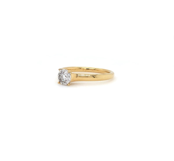 18K Yellow Gold Memoire Bouquet Collection Ring | Blacy's Fine Jewelers