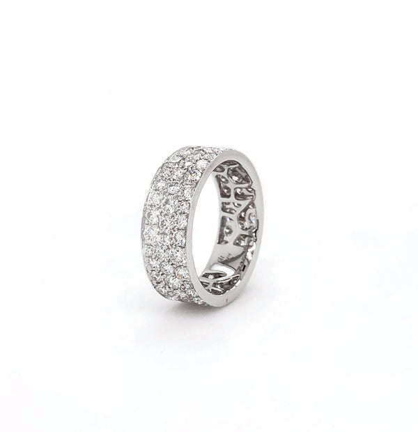 Memoire Eternal Star Collection Eternity Band 18K White gold Eternity Ring equals a 3.04 ctw | Blacy's Fine Jewelers, Memoire