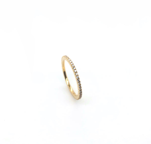 18K Yellow Gold Stackable Eternity Band 49 Diamonds Equals .29 ctw | Blacy's Vault