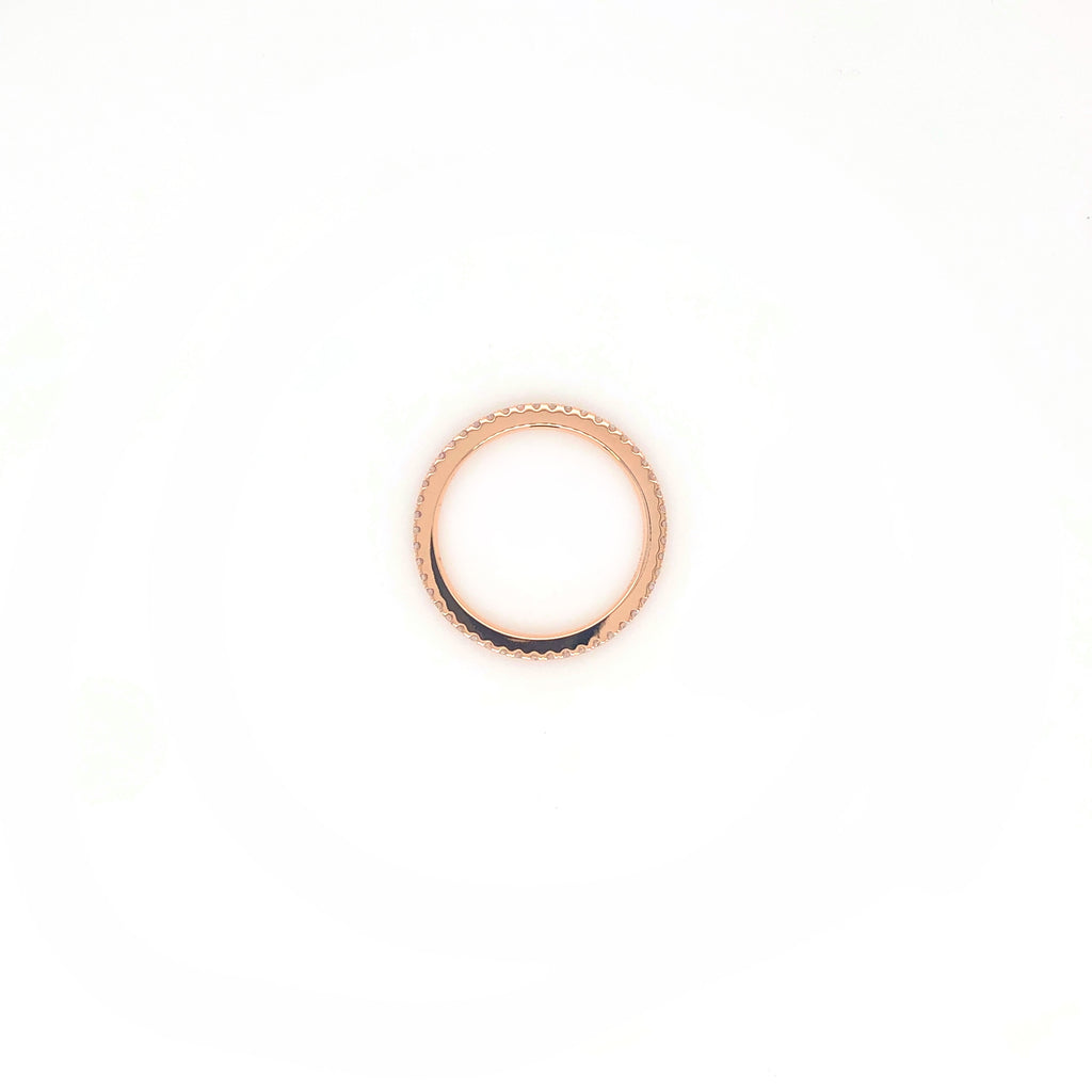 18K Rose Gold Stackable Eternity Band 49 Diamonds Equals .29 ctw | Blacy's Vault
