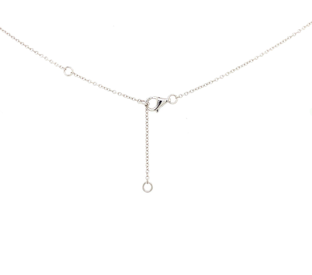 18K White Gold Milgrain Circle Necklace Containing 10 Round Brilliant Diamonds Equals to .20 ctw 18 Inches | Blacy's Fine Jewelers, Memoire