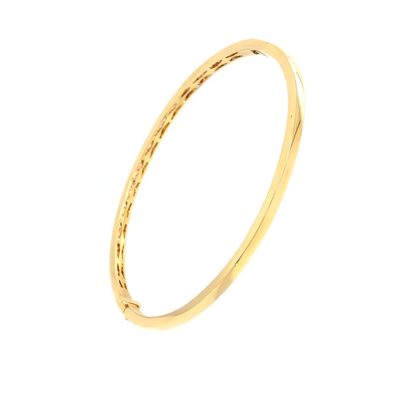 Memoire 18K Yellow Gold Milgrain Hinge Bangle 46 Round Brilliant Diamonds equals .85 ctw | Blacy's Fine Jewelers, Memoire