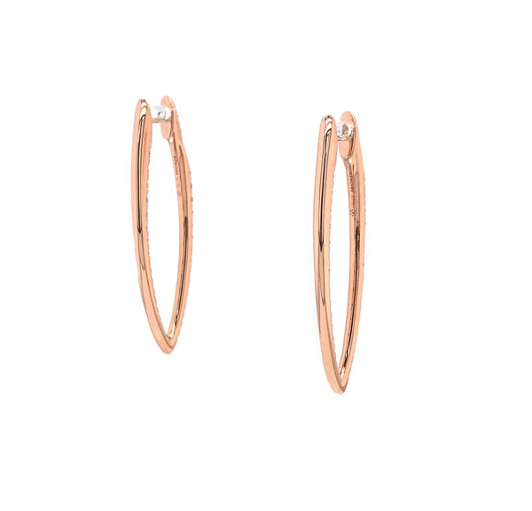 Memoire 18K Rose Gold Imperial Hoops 74 Diamonds equals 1.60 ctw | Blacy's Fine Jewelers, Memoire