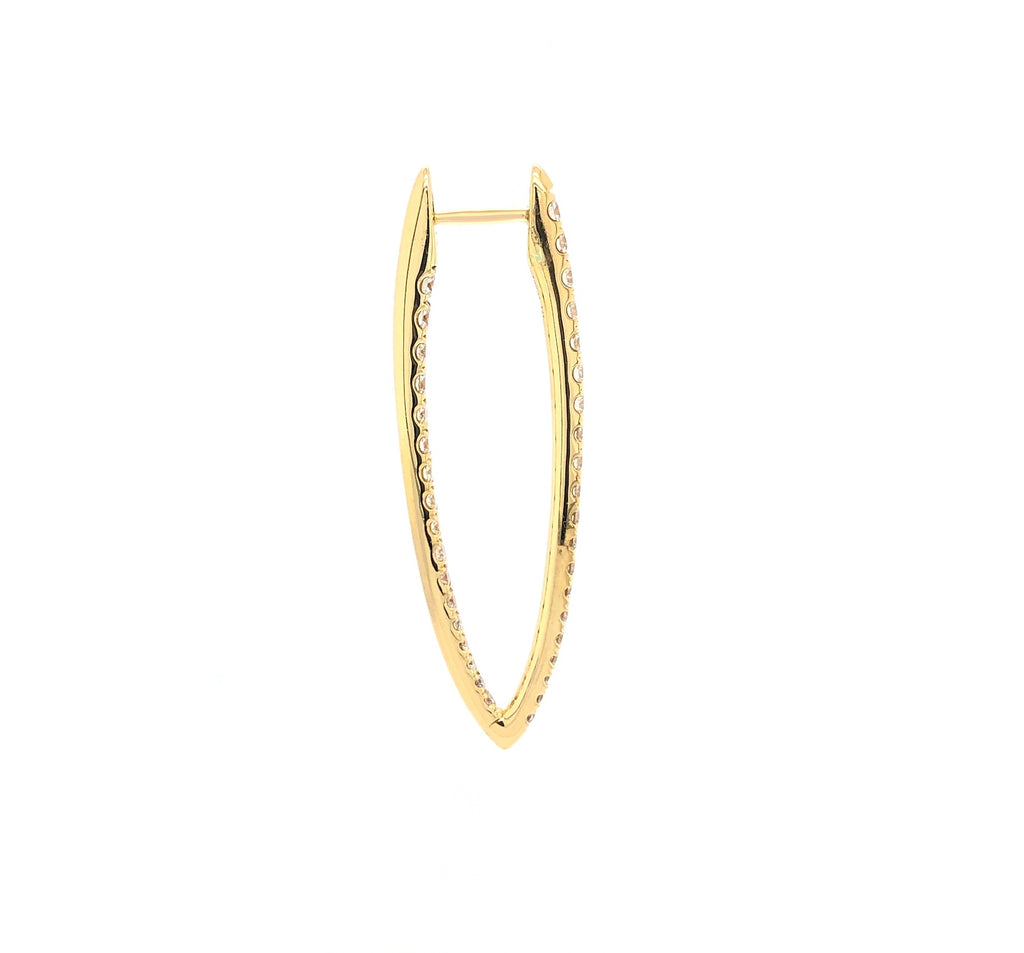 Memoire 18K Yellow Gold Imperial Hoops 74 Diamonds equals 1.67 ctw | Blacy's Fine Jewelers, Memoire