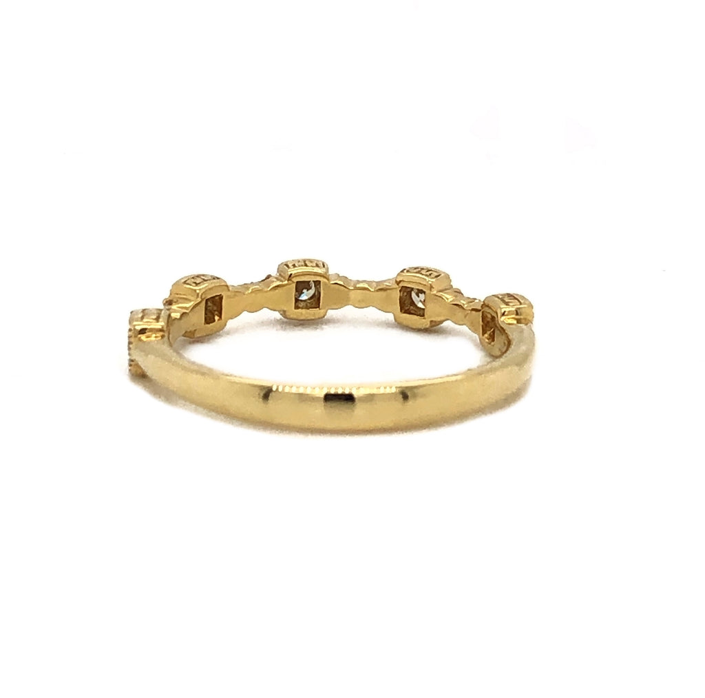 Christopher Designs Stackable Diamond Band 17 Diamonds Equals 0.25ctw 18K Yellow Gold | Blacy's Vault