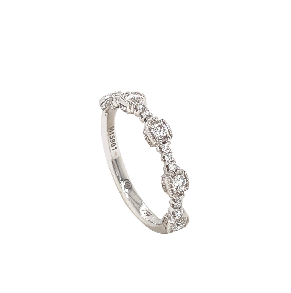 Christopher Designs Stackable Diamond Band 18K White Gold 0.25ctw | Blacy's Fine Jewelers