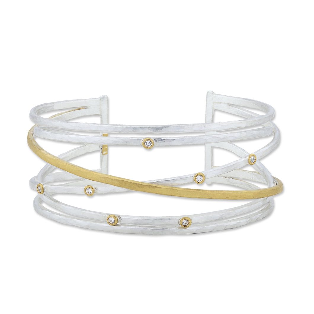 Lika Behar Collection Stockholm Crosswire Open Cuff | Blacy's Vault