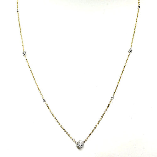 A. Link Diamond Chain Necklace 57 Diamonds equals 1.35ctw 18K 2 Tone Gold | Blacy's Fine Jewelers
