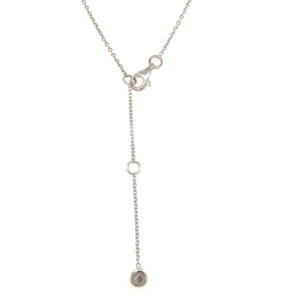 A. Link 5 Stone Drop Diamond Necklace Adjustable Chain 0.62ctw 18 Karat White Gold | Blacy's Fine Jewelers