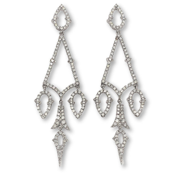 2.83ctw Diamond Chandelier Earrings 18K W.G. | Blacy's Fine Jewelers