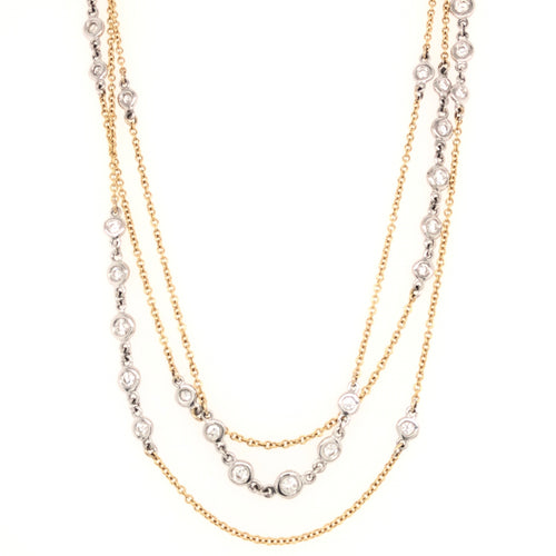 "A. Link Necklace Diamond 36"" Chain 