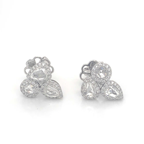 Rose Cut Diamond Earrings | Blacy's Vault