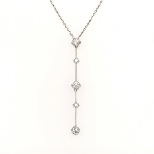 A. Link 5 Stone Drop Diamond Necklace | Blacy's Vault