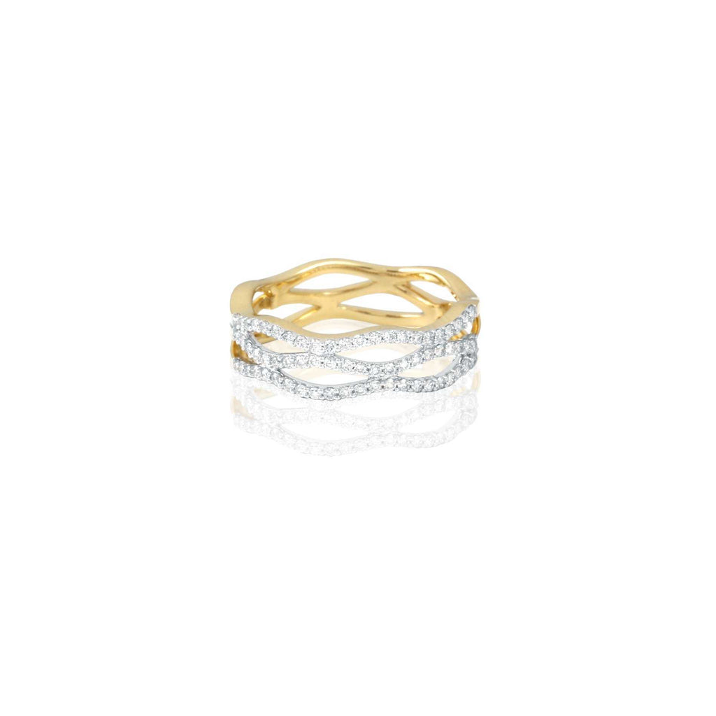 Yellow Gold Wave Ring | Blacy's Fine Jewelers