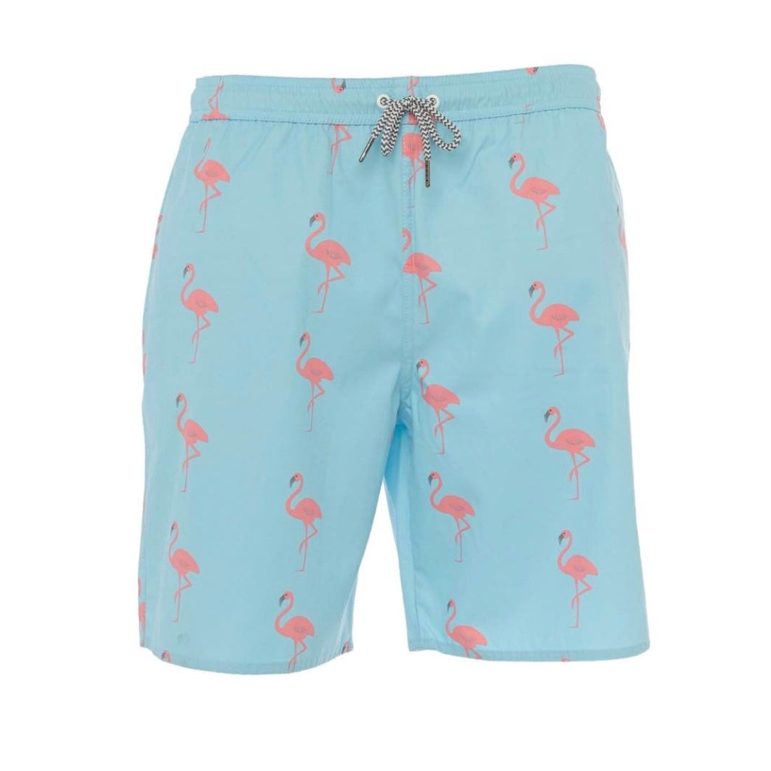 Bermuda Blue Flamingo Boys Trunks