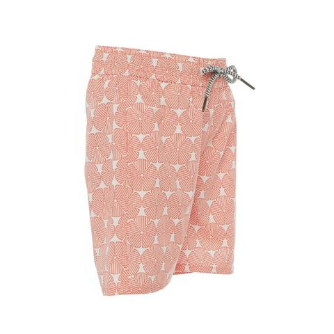 Bermuda Orange Swirl Boys Trunks