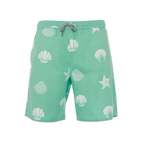 Bermuda Green Shell Boys Trunks