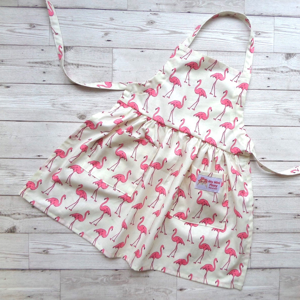 Flamingo Child's Apron