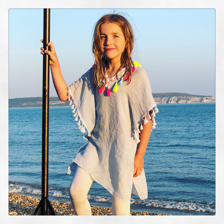 Blue Kaftan for younger girls