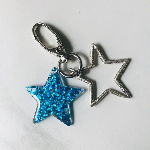 Blue Star Keyring