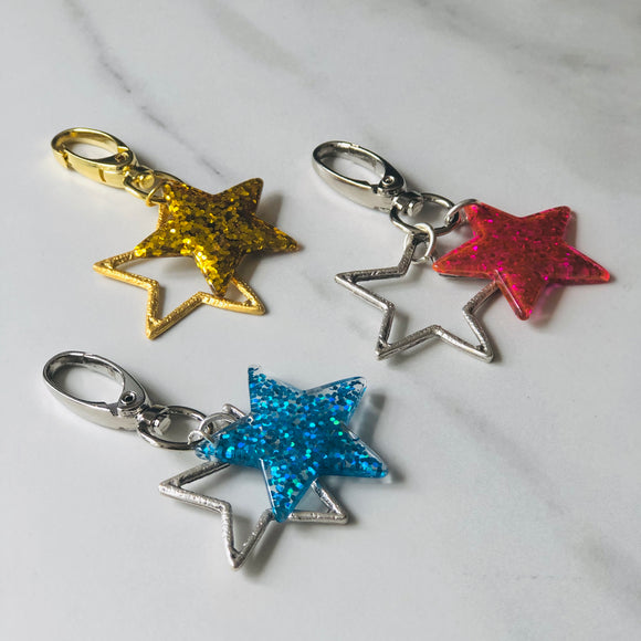 Gold Star Keyring