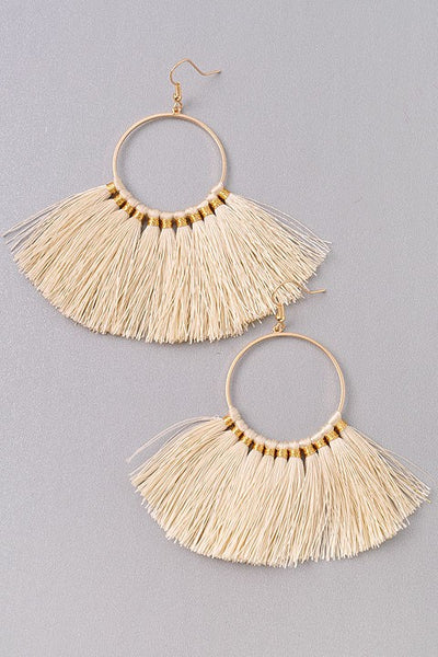 BRIANNA EARRINGS - IVORY