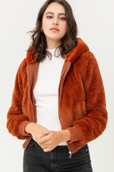 BRINLEY JACKET - BRICK