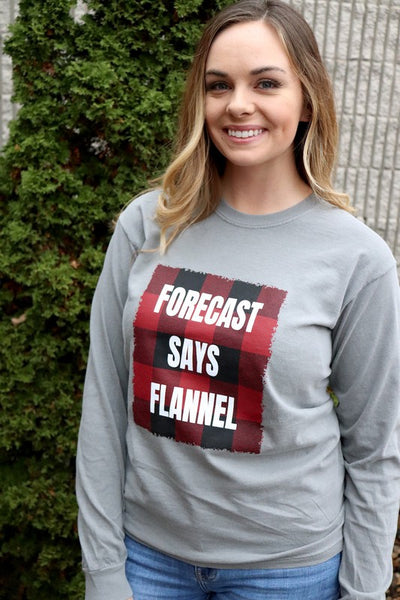 FORECAST SAYS FLANNEL TOP