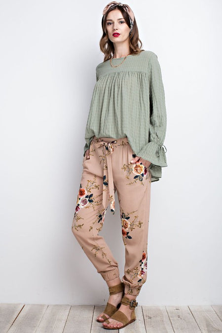 ALIVIA JOGGER TROUSERS -OLIVE