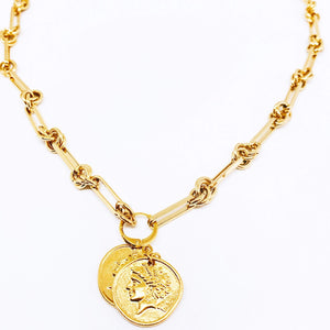 Collar Dije Doble Moneda
