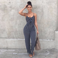 Striped Spaghetti Jumpsuit