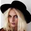 Image of Black Felt Hat
