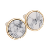 Image of Marble on Gold Earrings