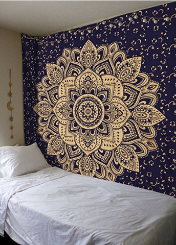 Moon Lotus Tapestry