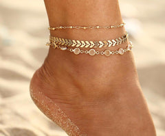 Gold Ankle Braclets
