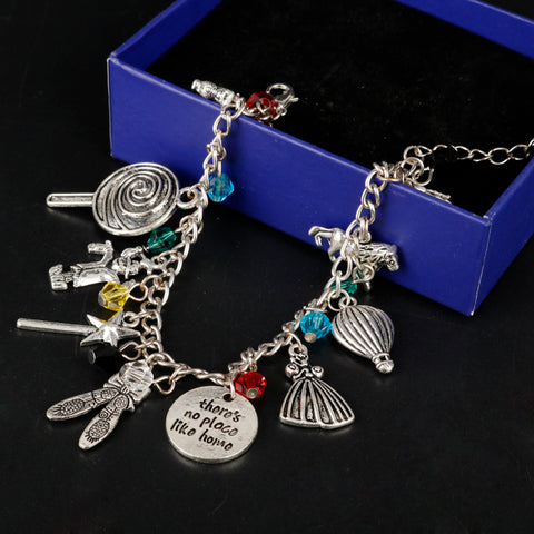 Wizard of Oz Charm Bracelet with Pendants