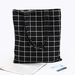 Grid Canvas Tote