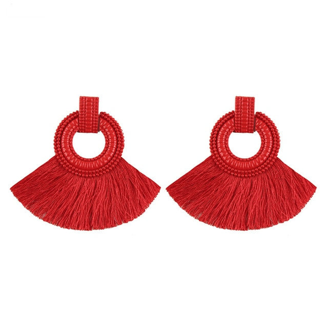 Boho Drop Tassel Earrings
