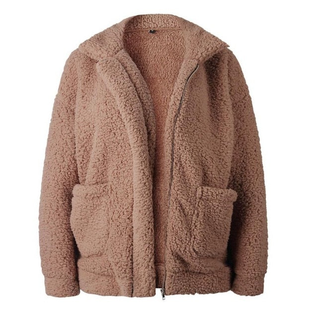 Plush Faux Fur Coat