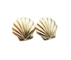 Image of Gold Seashell Earrings