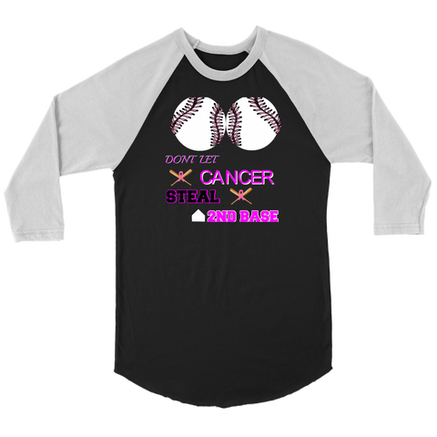 DONT LET CANCER - BASEBALL TEE