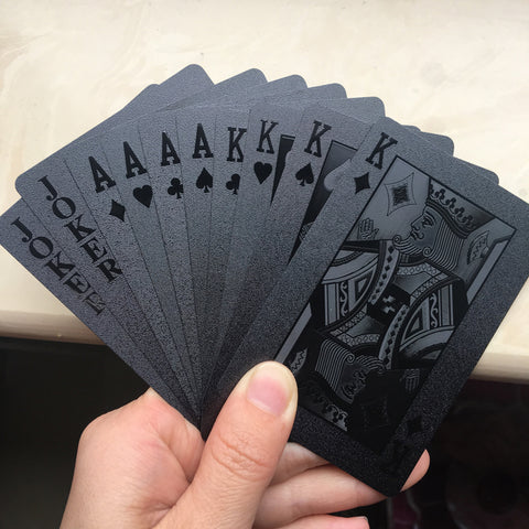 Waterproof Black 3D Embossing Poker Cards
