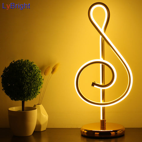 Modern European Musical Table Light
