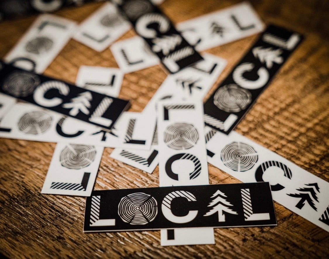 LOCAL Logo Sticker - White