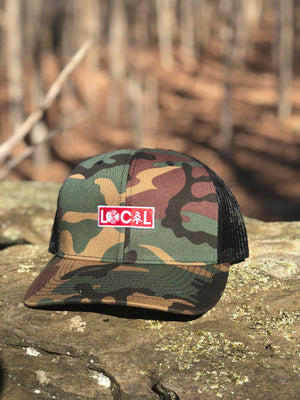Camo Red Patch - LoPro Trucker Hat
