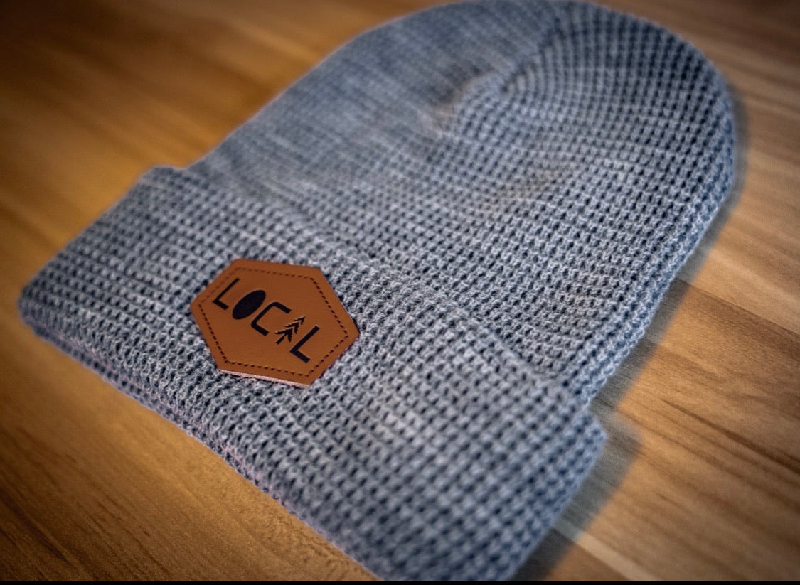 Waffle Knit Beanie - Heather Grey
