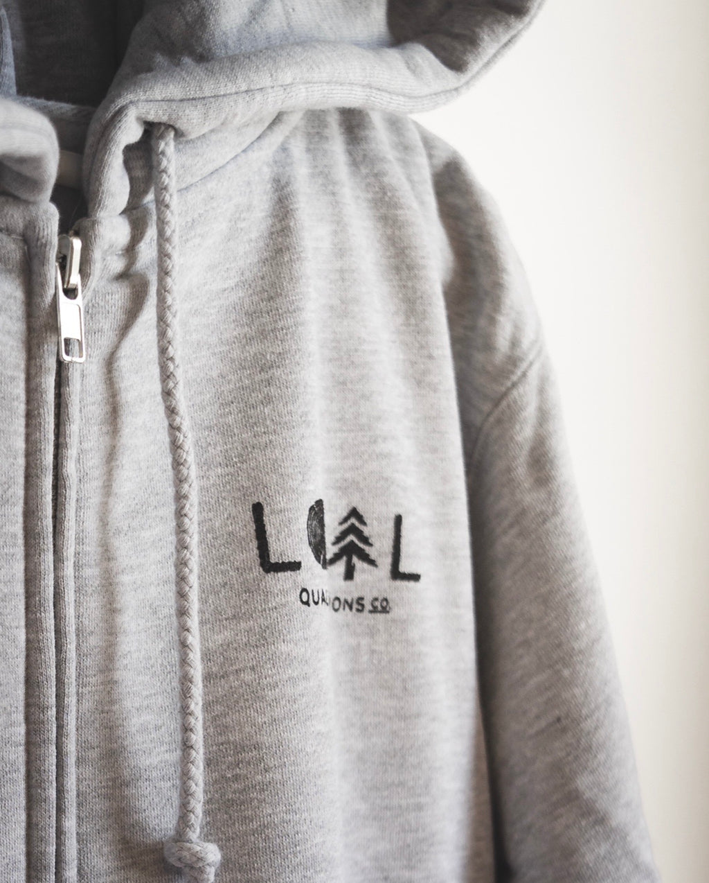 Heavyweight Zip-Up - Heather Grey