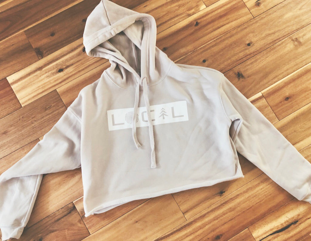 LOCAL Cropped Hoodie - Heather Dust