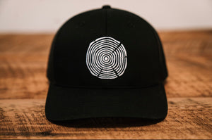 Tree Ring Trucker Hat - Black