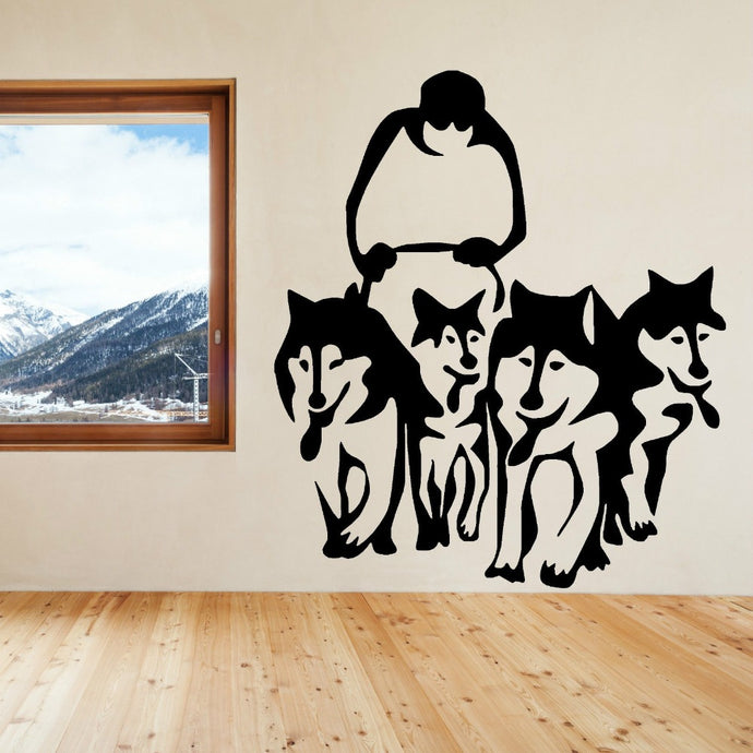 Husky Dog Sled Team Wall Art